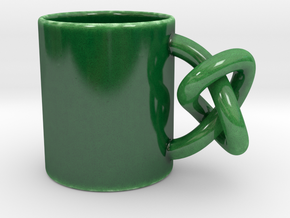 Trefoil Mug in Gloss Oribe Green Porcelain