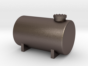 N Scale Fuel Tank 10m³ in Polished Bronzed Silver Steel