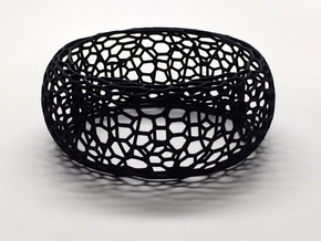 Honeycomb Bangle in Black Strong & Flexible