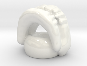 Vampire Teeth Vase in Gloss White Porcelain