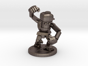Junk Robot in Polished Bronzed Silver Steel
