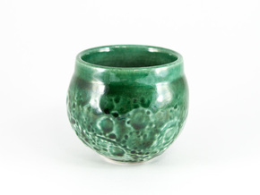 """Moon Shot"" Espresso Cup in Gloss Oribe Green Porcelain"