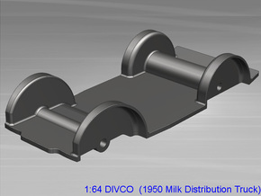 Divco Floor-V2 in Smooth Fine Detail Plastic