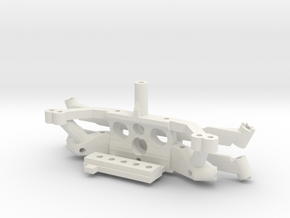 Subchassis V7 motor mount plastic parts in White Natural Versatile Plastic