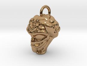 Alien Head Key Ring Add-on in Polished Brass