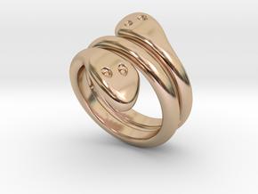 Ring Cobra 21 - Italian Size 21 in 14k Rose Gold Plated Brass
