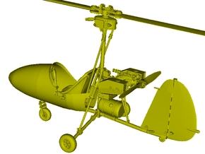 1/18 scale Wallis WA-116 Agile autogyro model kit in Smooth Fine Detail Plastic