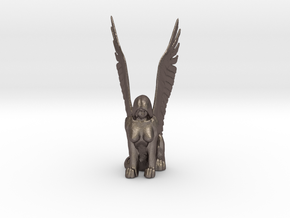 Sphinx in Polished Bronzed Silver Steel