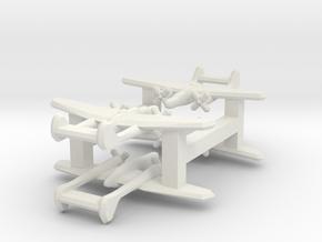 P-61 Blackwidow 1:900 x4 in White Natural Versatile Plastic