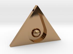 Guacanati Pendant in Polished Brass