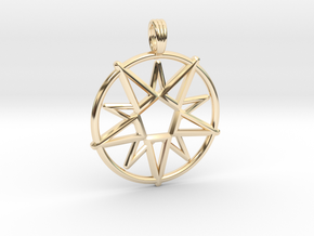 MAGIC CIRCLE in 14k Gold Plated Brass