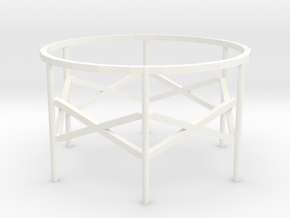 Gas Holder in White Processed Versatile Plastic