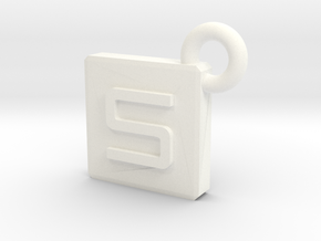 SarcaCraft Keychain - Large in White Processed Versatile Plastic