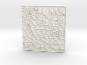 Voronoi Cells in White Processed Versatile Plastic