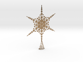 Sparkle Snow Star - Fractal Tree Top - HP0 - S in Natural Brass