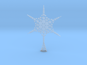 Sparkle Snow Star - Fractal Tree Top - HP2 - L in Smooth Fine Detail Plastic