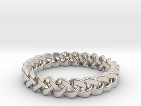 Napkin Holder Braided in Rhodium Plated Brass