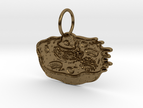 Animal Cell Pendant in Polished Bronze