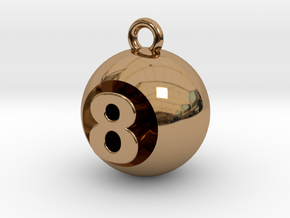 8 Ball in Polished Brass
