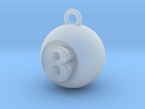 8 Ball in Smooth Fine Detail Plastic
