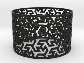 Bracelet Iranian Brickwork 1 in Black Natural Versatile Plastic