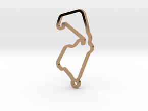 Silverstone Key Chain in Polished Brass