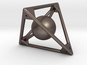 Sphere in D4  in Polished Bronzed Silver Steel