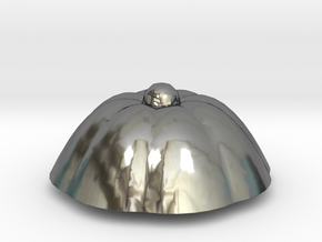 PPot Top 2 in Fine Detail Polished Silver