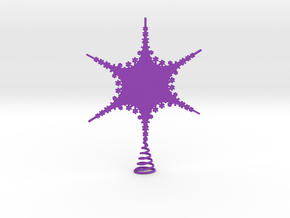 Sparkle Snow Star 2 - Tree Top Fractal - M in Purple Processed Versatile Plastic