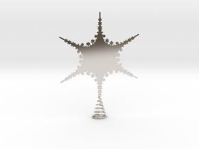 Sparkle Snow Star 2 - Fractal Tree - S in Platinum