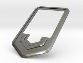 VossenWork Ticket Holder Mount in Fine Detail Polished Silver