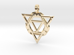 APHELION THRUST in 14k Gold Plated Brass