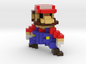 Super Voxel Mario in Full Color Sandstone
