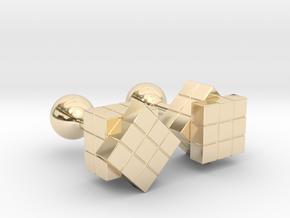Rubik Cu(be)fflinks in 14K Yellow Gold