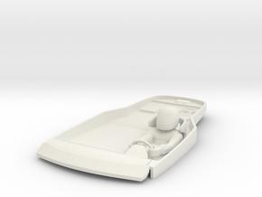 S07-SA1 Cockpit for Scalextric Aston Martin GT3 in White Natural Versatile Plastic