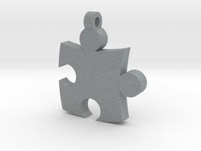 Puzzle Pendant in Polished Metallic Plastic