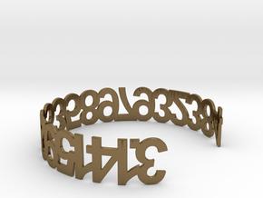 PI Bracelet in Polished Bronze