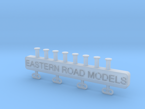 Caboose Electric Markers O Scale in Smooth Fine Detail Plastic