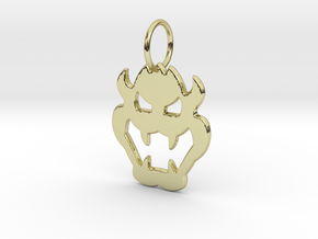 Bowser Pendant in 18k Gold Plated