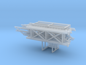 HO 1/87 Loading Platform for depot/industry in Smooth Fine Detail Plastic