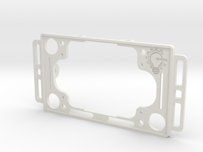 Raspberry Pi and Screen Mount - Part 1/2 -v2 in White Natural Versatile Plastic
