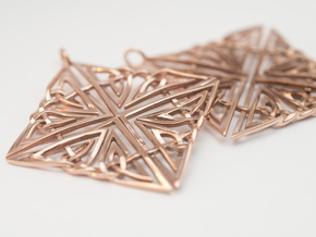 Celtic Knot Earring in 14k Rose Gold Plated Brass