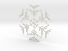 Snowflakes Series II: No. 3 in White Natural Versatile Plastic