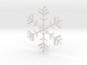 Snowflakes Series II: No. 4 in White Natural Versatile Plastic