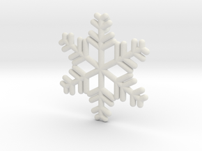 Snowflakes Series II: No. 12 in White Natural Versatile Plastic