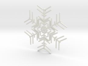 Snowflakes Series I: No. 2 in White Natural Versatile Plastic