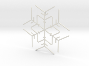 Snowflakes Series I: No. 5 in White Natural Versatile Plastic