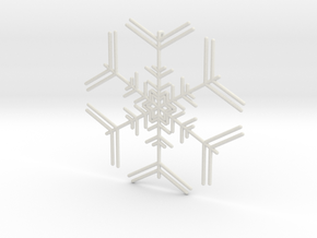 Snowflakes Series I: No. 7 in White Natural Versatile Plastic