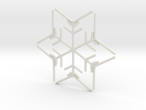 Snowflakes Series I: No. 9 in White Natural Versatile Plastic