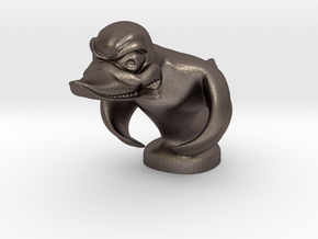Death Proof Duck in Polished Bronzed Silver Steel